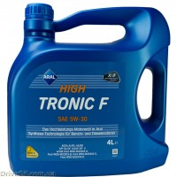 Моторное масло Aral HighTronic F 5W-30 4л