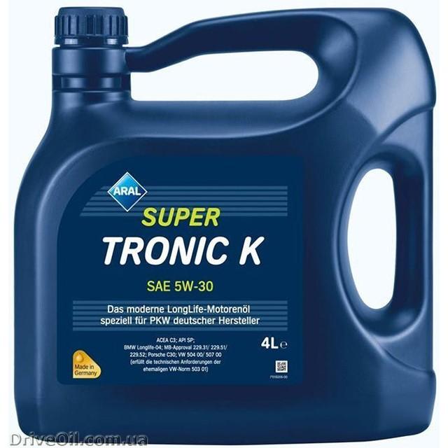 Моторное масло Aral SuperTronic K 5W-30 4 л