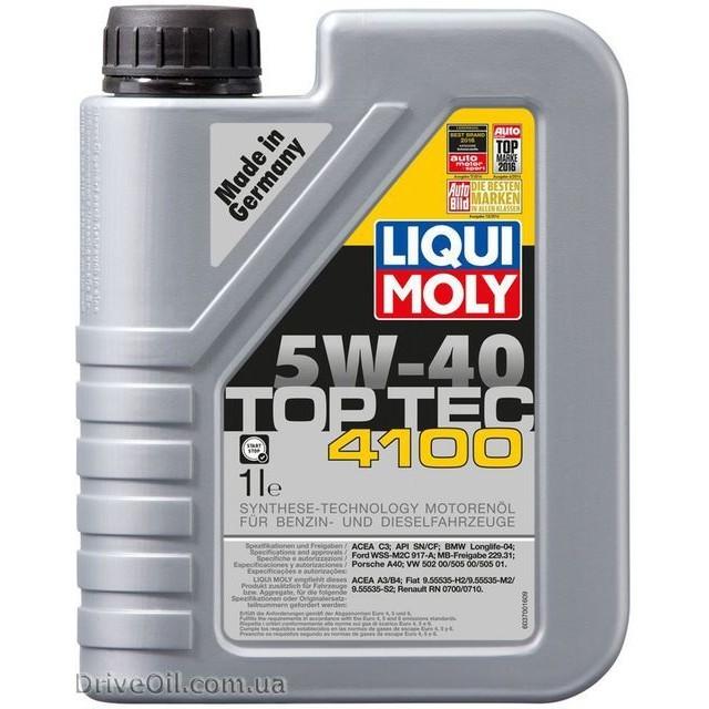 Моторное масло Liqui Moly Top Tec 4100 5W-40 1 л
