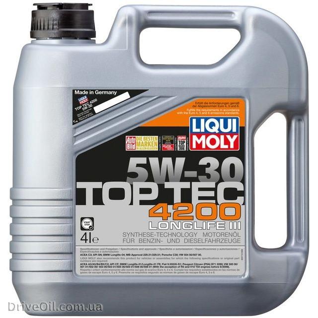 Моторное масло Liqui Moly Top Tec 4200 5W-30 4 л