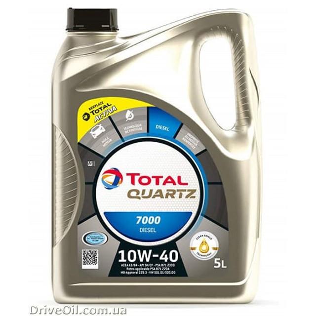 Моторное масло Total Quartz 7000 DIESEL 10W-40 5 л