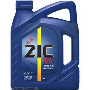 Моторное масло Zic X5 10W-40 6 л